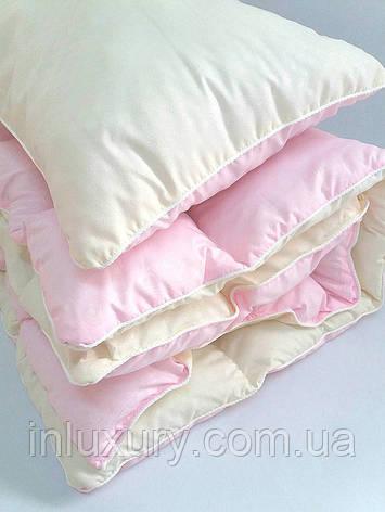 Комплект одеяло и подушка розовый, фото 2