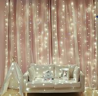 Гирлянда штора, занавес 3x2,4м 288 LED Белый