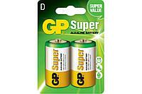 Батарейка GP Super Alkaline LR20, D, 1.5V БЛ1* 2шт (13A-U2)