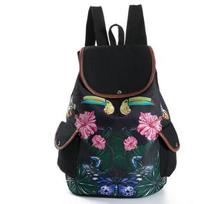Стильный рюкзак панда MIYAHOUSE для подростков и молодежи Цветочный