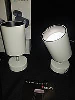 Світлодіодне настінне бра спот поворотне біле, фото 1