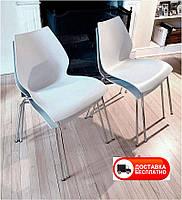 Стул Лили сиденье белый полипропилен, дизайн Maui Magistretti Vico