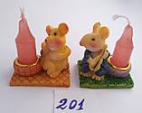 Статуэтка подсвечник со свечой Крыска 3,5*4 см, фото 3