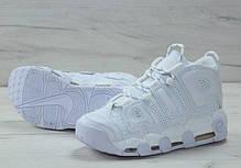 Мужские кроссовки в стиле Nike Air More Uptempo All White, фото 2