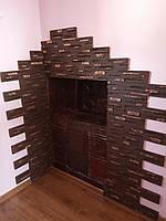 Гипсовая декоративная плитка (камень) Афина шоколадная с светлым