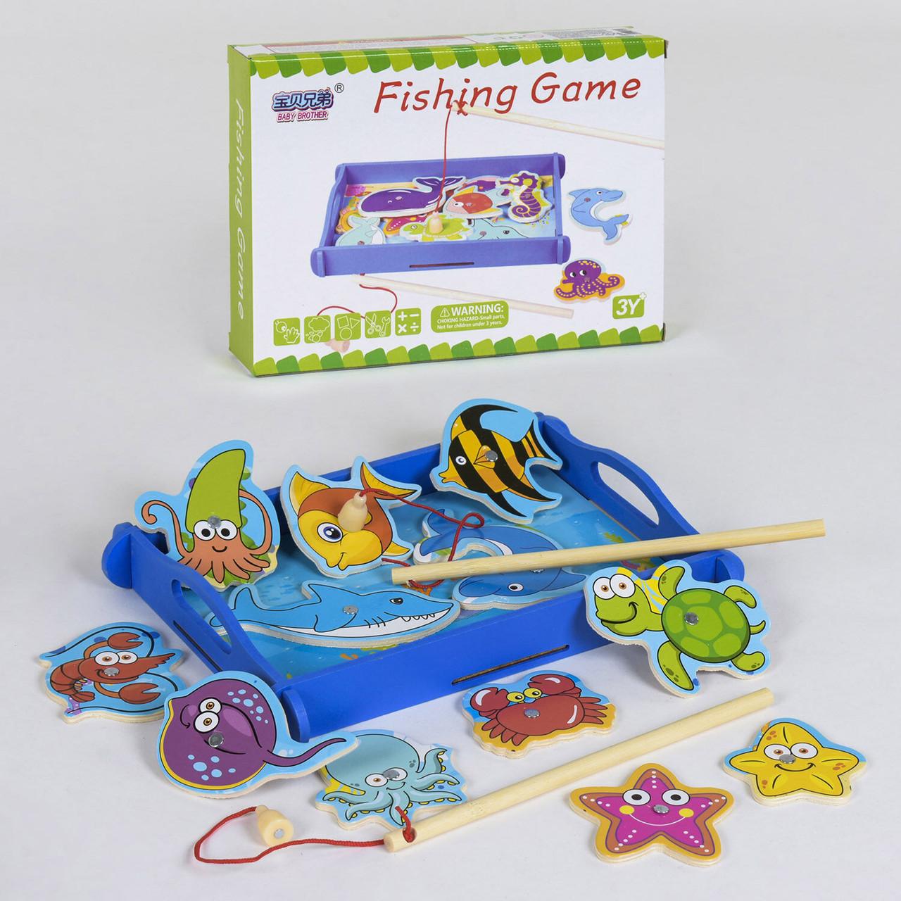 Деревянная игра Рыбалка C 39175 магнитная Гарантия качества Быстрота доставки