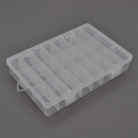Пластмассовый ящик для радиодеталей, 345 х 50 х 220 мм, 28 больших отделений