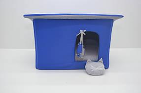 Домик Уют для котов и собак Комфорт лето синий, фото 2