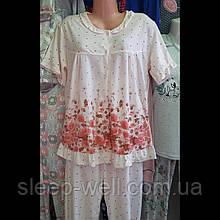 Пижама с бриджами больших размеров