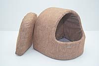Будка для котов и собак Мрия коричневая