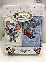 Набор махровых детских полотенец с мышкой 30*50 см Gulcan