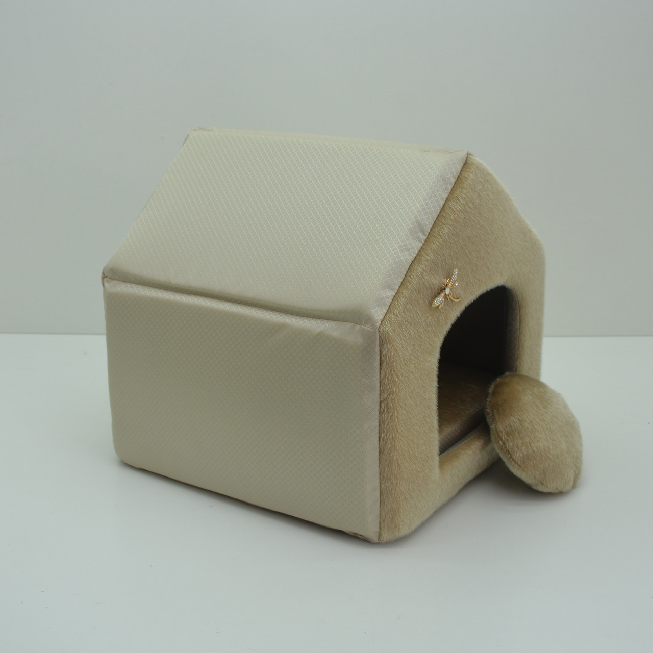 Будиночок для котів і собак Хутро бежевий