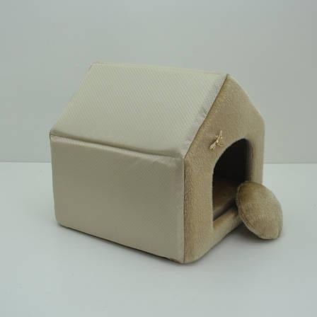 Будиночок для котів і собак Хутро бежевий, фото 2