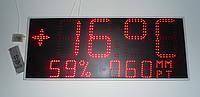Часы - метеостанция измеряют температуру давление и относительную влажность воздуха