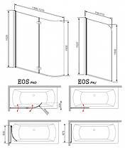 Шторки для ванны Radaway Eos PNJ 205101-101L/R 700x1520мм, фото 2