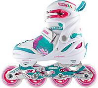 Роликовые коньки детские Roces Yuma, белый/розовый, 30-35