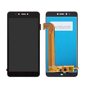 Дисплей (экран) для Prestigio MultiPhone PSP7530 Muze A7 с сенсором (тачскрином) черный