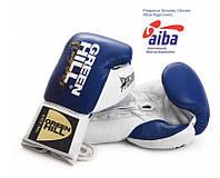 """Перчатки боксерские """"Pegasus"""" Green Hill лицензированные Aiba Pro Boxing синий"""