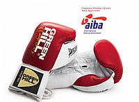 """Перчатки боксерские """"Pegasus"""" Green Hill лицензированные Aiba Pro Boxing красный"""