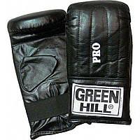"""Снарядные перчатки """"Pro"""" Green Hill черный"""