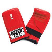 """Снарядные перчатки """"Pro"""" Green Hill красный"""