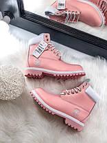 Женские демисезонные ботинки в стиле Timberland Pink, фото 3