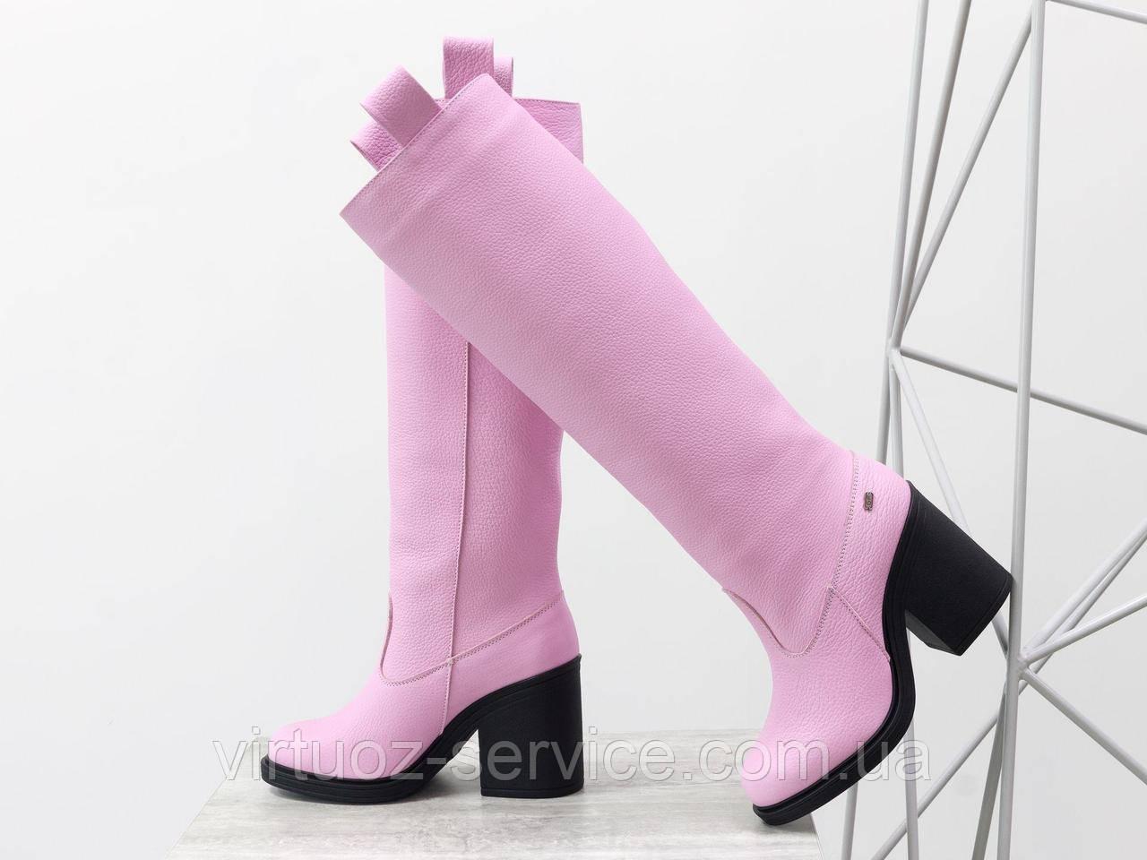 Сапоги Gino Figini М-17356-16 из натуральной кожи 38 Розовый