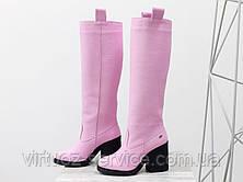 Сапоги Gino Figini М-17356-16 из натуральной кожи 38 Розовый, фото 3
