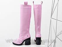 Сапоги Gino Figini М-17356-16 из натуральной кожи 38 Розовый, фото 2
