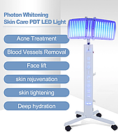 Вертикальный светодиодный фотонный светильник PDT для ухода за кожей, от акне, морщин и омоложения кожи