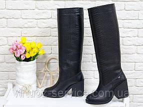 Сапоги женские Gino Figini М-17356-02 из натуральной кожи 38 Черный, фото 2