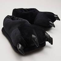 Домашние тапочки кигуруми Лапы Черные SKL32-189894