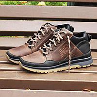 Мужские зимние кожаные кроссовки New Balance (реплика)