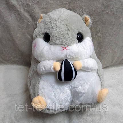 Плед - мягкая игрушка 3 в 1 Бурундучок серый с белым, фото 2