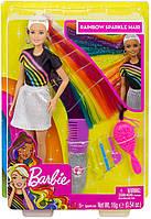 Кукла Барби Блестящая и радужная/Радужные волосы Barbie Rainbow Sparkle Hair Doll FXN96