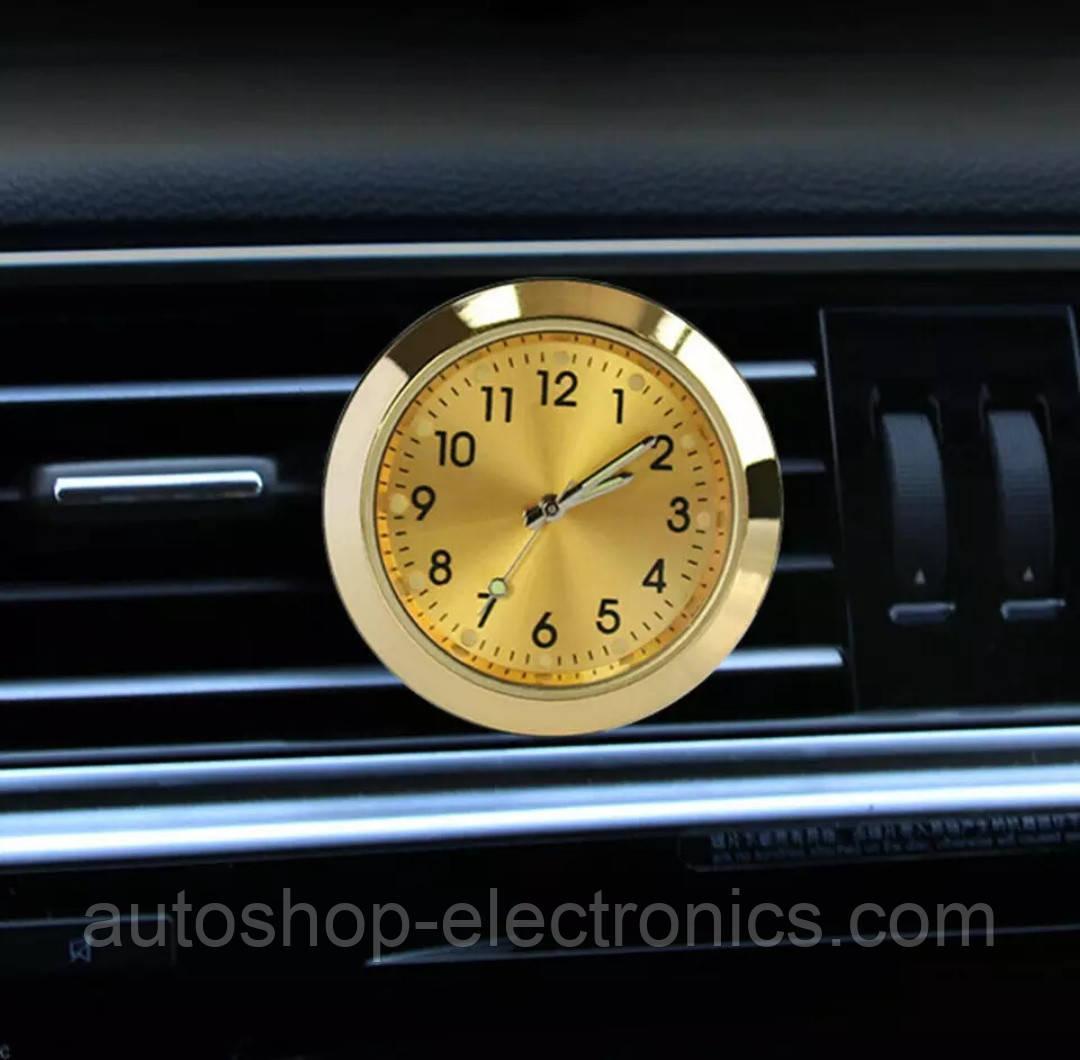Автомобильные часы в решетку воздуховода или на скотч к поверхности - ЗОЛОТОЙ ЦИФЕРБЛАТ