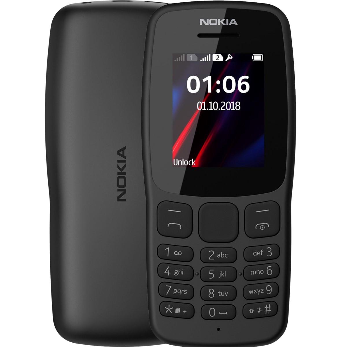 Мобильный телефон Nokia 106 Dual Sim 2018 Grey