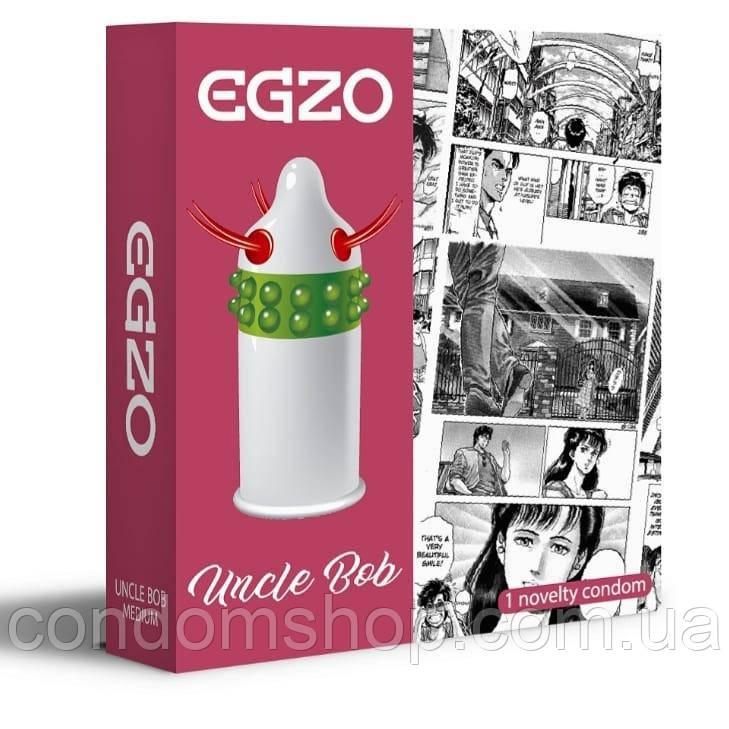 Презервативы Egzo с усиками и шариками  UNCLE BOB.