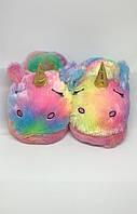 Детские домашние тапочки Единорог Радужный Бриз 19 см - 190004 (SKU777)