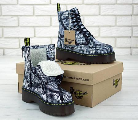 Женские ботинки Dr.Martens JADON кожа, ЗИМА. ТОП Реплика ААА класса., фото 2