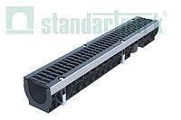 Лоток водоотводный PolyMax Drive ЛВ-10.16.12-ПП пластиковый с решеткой щелевой чугунной  ВЧ кл. D080234