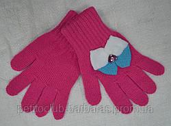Рукавички для дівчинки з бантиком Arkadia рожеві (MargotBis, Польща)
