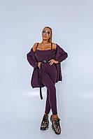 Костюм Doratti стильный крутой вязаный комбинезон и кардиган яркие цвета Ddor1948