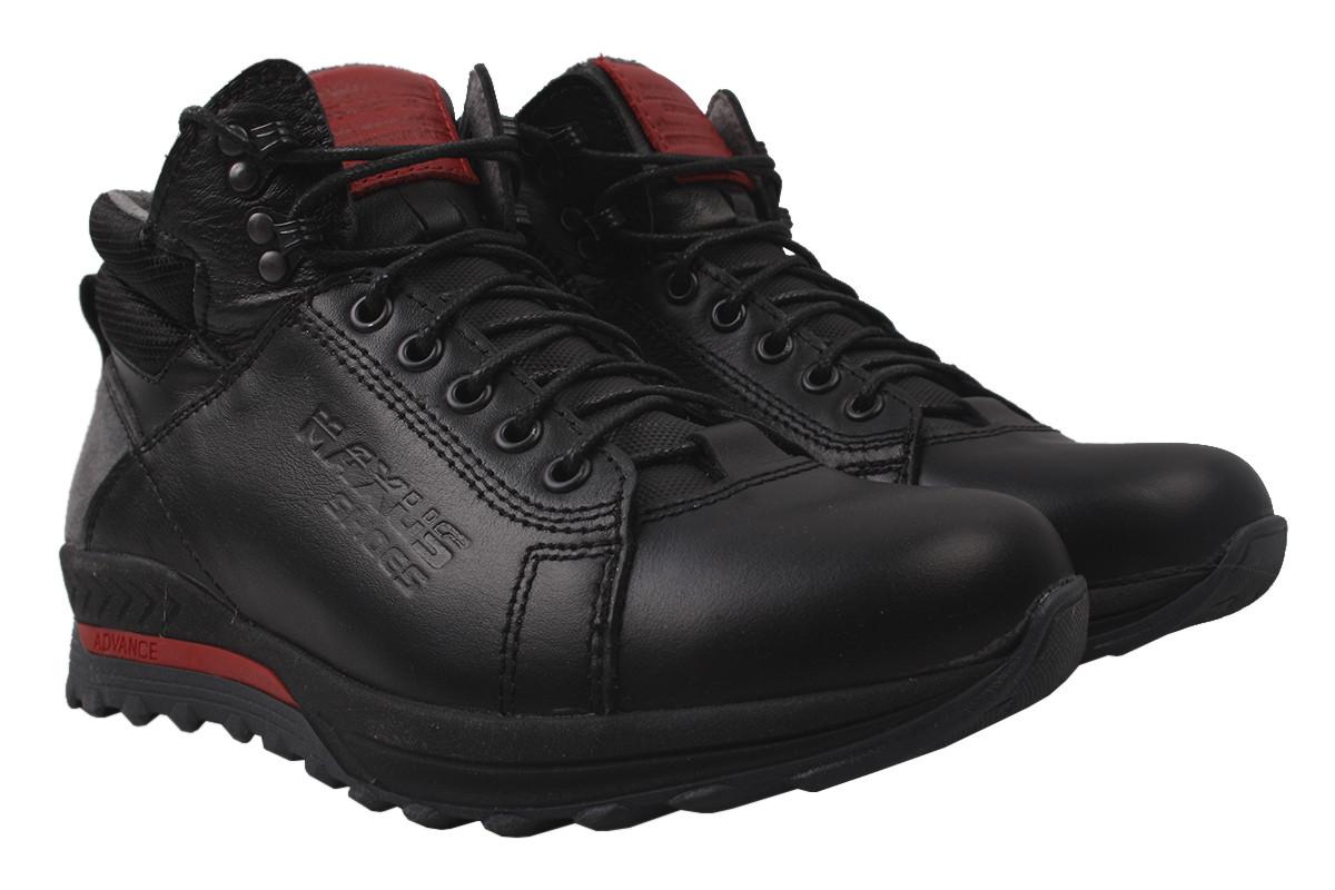 Ботинки мужские зимние Maxus shoes натуральная кожа, цвет черный, размер 40-45