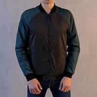 "Мужская демисезонная куртка Pobedov Bomber ""PaBlo Zibrovv"" Black/Green (S, M, L, XL размеры)"
