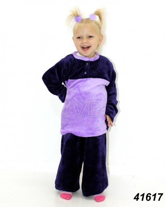Детская фиолетовая махровая пижама на рост 104,128