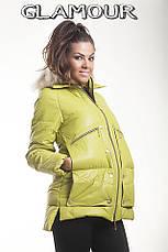Женская зимняя куртка «Moncler» на синтепоне, фото 3