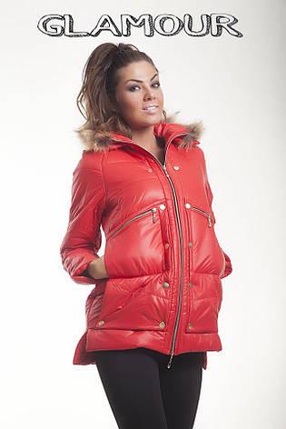 Женская зимняя куртка «Moncler» на синтепоне, фото 2
