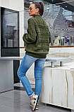 S506/7 Женский свитер под горло  крупная вязка, фото 6