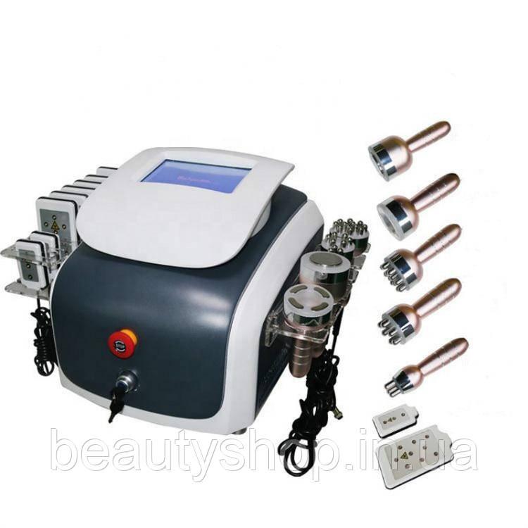 Аппарат 6 в 1 Кавитация, лазерный липолиз для удаления жира, вакуум, РФ лифтинг лица и тела